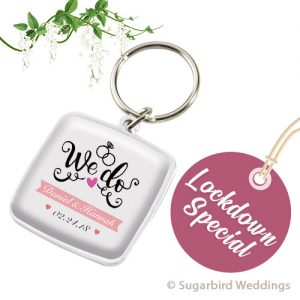 Square Dome Keyring