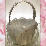 Bow Flower Girl Confetti Basket