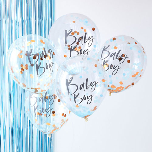 Baby Boy Confetti Balloon