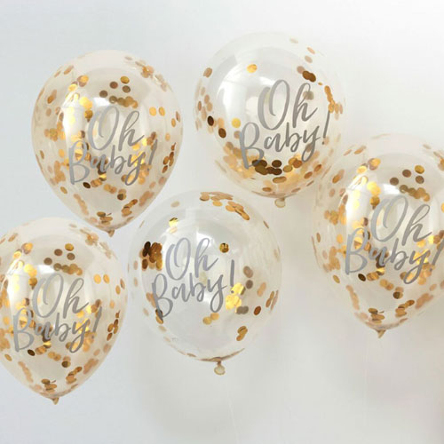 Gold Baby Shower Balloon