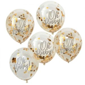 Gold Baby Shower Balloon