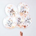 Rose Gold Confetti Balloon