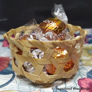 Mini Bamboo Posy Basket
