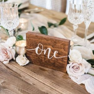 Wooden Block Table Numbers