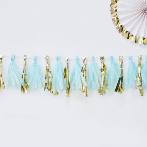 Blue & Gold Tassel Garland