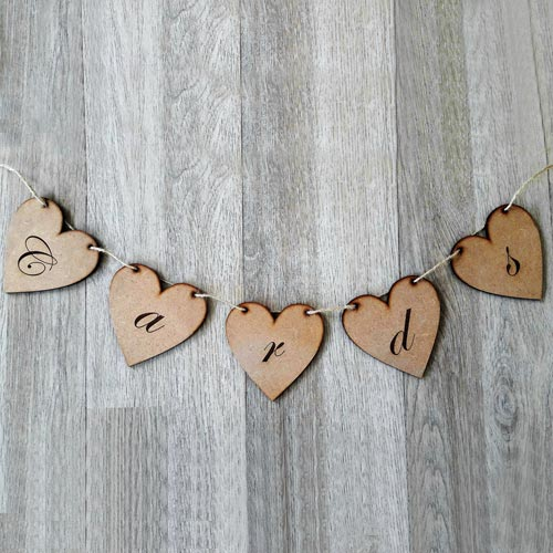 Heart Card Table Bunting
