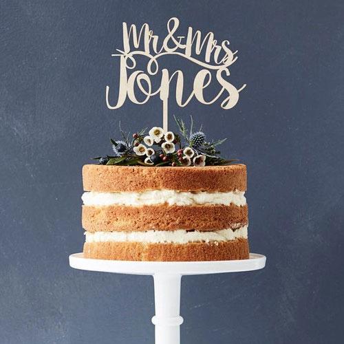 Custom Lasercut Cake Topper Wedding Cake Toppers