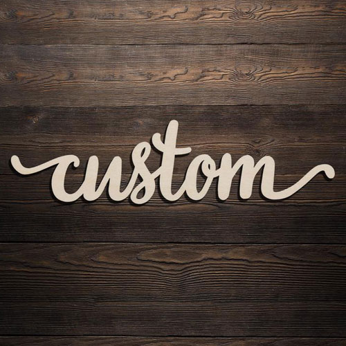 Custom Lasercut Sign
