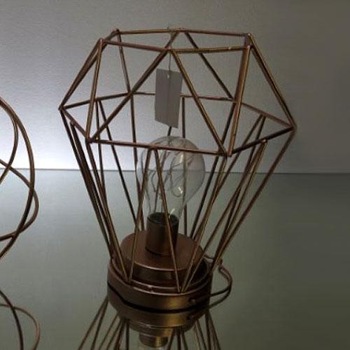 Geometric Hexagon LED Lantern