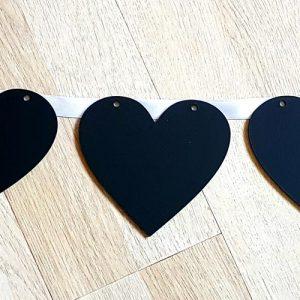 Chalkboard Heart Bunting