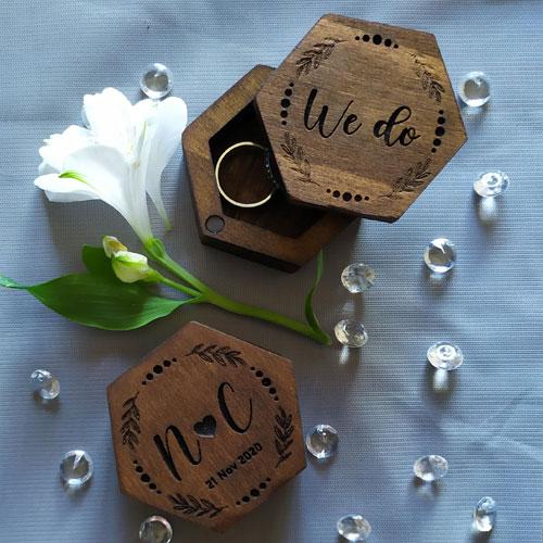 Custom Hexagonal Ring Box