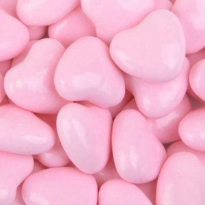 Light Pink Candy Chocolate Hearts