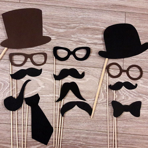 Mens Photobooth Props