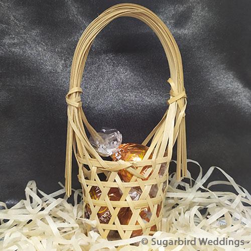 Mini Woven Bamboo Basket