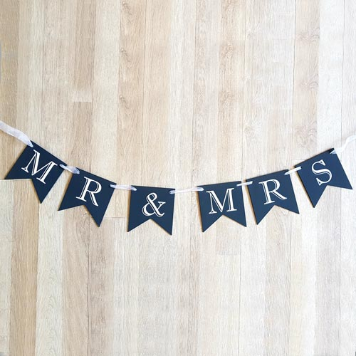 Mr and Mrs Flag Bunting