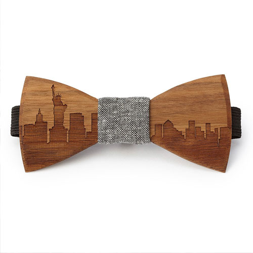 Personalised Wooden Bow Tie