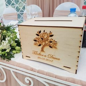 Custom Wooden Envelop Box
