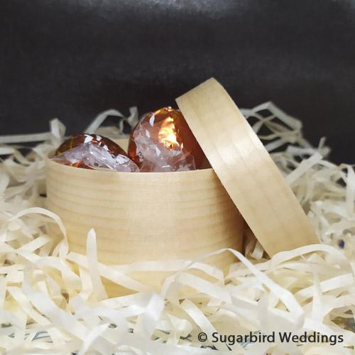 Round Wooden Box