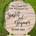 Custom Round Welcome Sign