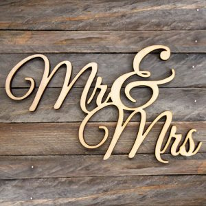 Custom Wooden Wedding Sign