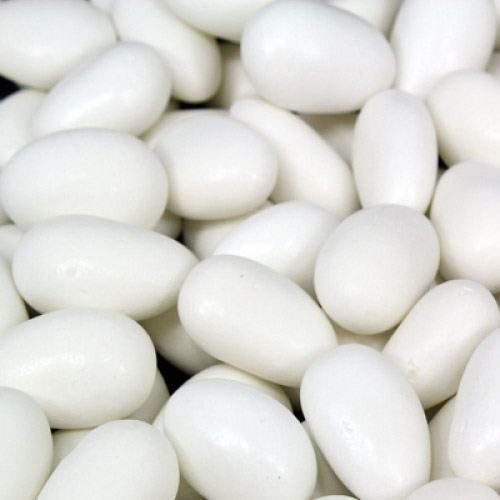 White Candy Coated Almonds