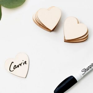 Guestbook Wooden Hearts