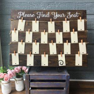 Wooden Seating Plan