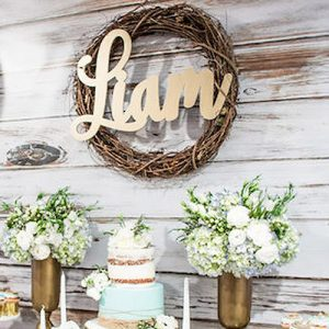 Baby Name Centerpiece Sign