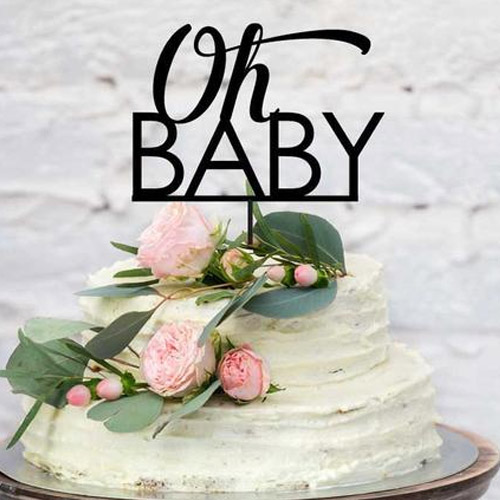 Custom baby cake topper