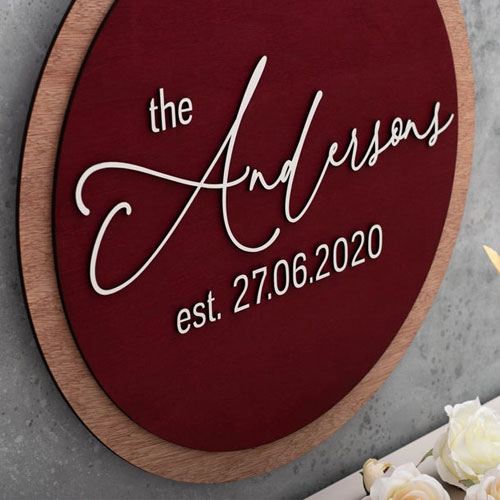 Wooden Guest Book Sign