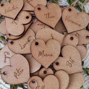 Heart placecard keyring