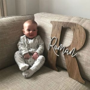 Baby Name Nursery Sign