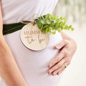 Wooden Baby Shower Sash
