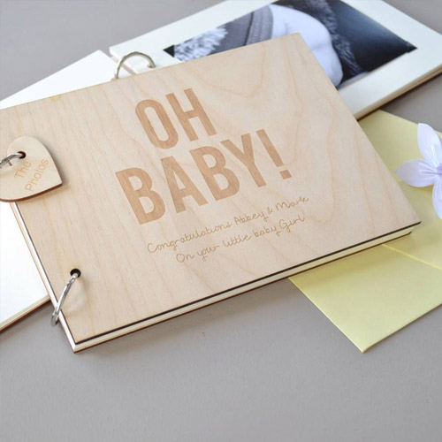 Personalised Baby Guest Book