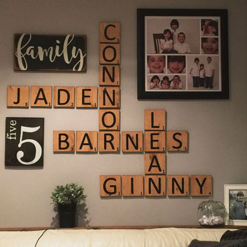 Baby Scrabble Wall Blocks