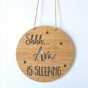 Personalised Sleeping Sign