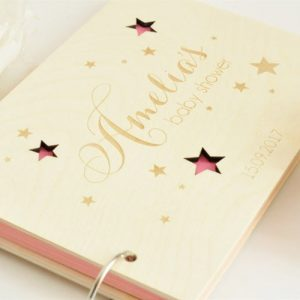 Personalised Wooden Baby Guestbook