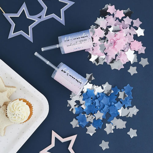 Gender Reveal Confetti Push-Pops