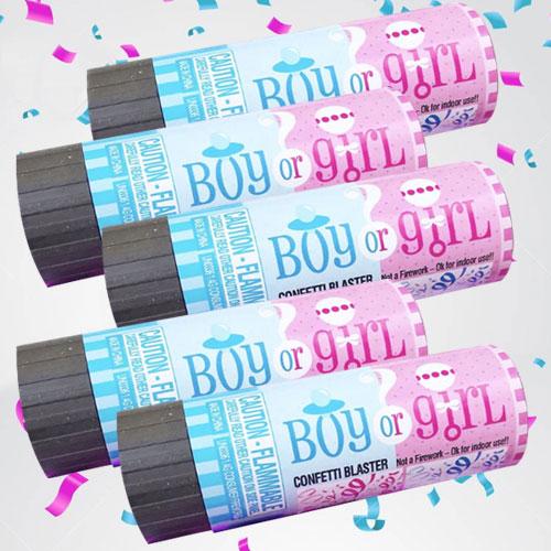 Gender Reveal Confetti Popper Pack
