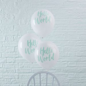 Hello World Baby Balloon