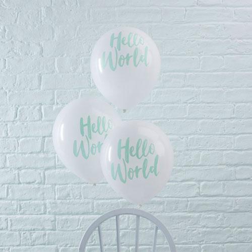 Hello World Baby Balloon