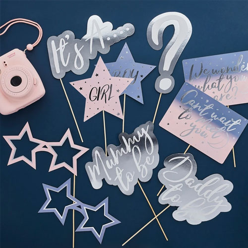 Gender Reveal Photo Booth Props