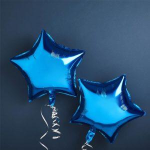 Blue Foil Star Balloons