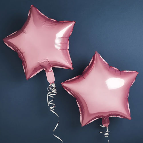 Pink Foil Star Balloons