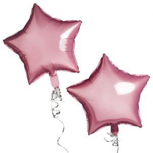 Pink Foil Star Balloons