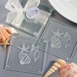 Beach Themed Glass Coasters