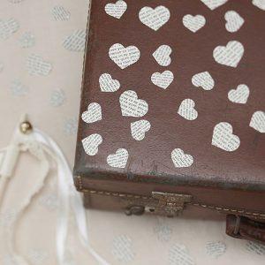 Vintage Heart Confetti