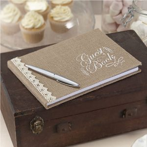 Vintage Hessian Guest Book