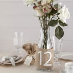 Vintage Hessian table Numbers