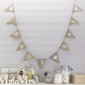 Vintage Candy Bar Hessian Bunting